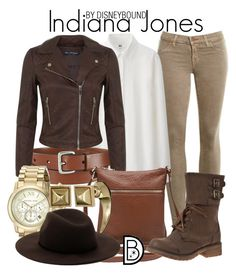 Indiana Jones by leslieakay on Polyvore featuring polyvore, fashion, style, Uniqlo, Miss Selfridge, J Brand, M&Co, Michael Kors, Rebecca Minkoff, Forever 21, disney, disneybound and disneycharacter