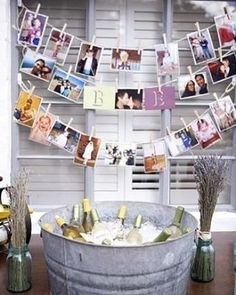 For a unique hen party idea get some old pictures of the bride and groom and make a timeline. . �� Pinterest weddingdress http://gelinshop.com/ipost/1516101051261810925/?code=BUKRd-cDnjt