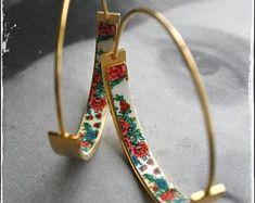 Portugal Tile Jewelry Azulejos Earrings Bracelets Stud by Atrio Ear Jewelry, Cute Jewelry, Jewelry Box, Jewelry Accessories, Jewelry Design, Jewlery, Jewelry Tattoo, Fashion Jewelry, My Style