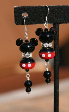 Mickey Earrings.  These are the coolest earrings ever.  I wonder if my sister Fran could make them?