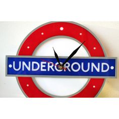 London Underground / Tube Wall Clock by wandrstore on Etsy
