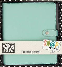 SIMPLE STORIES: CARPE DIEM A5 Faux Leather Planner Kit (Robin's Egg)