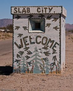 Slab City - old guard house, Niland