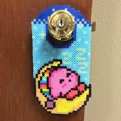 Glow in the Dark Kirby Door Hanger by EightbitFusion on Etsy https://www.etsy.com/listing/238691140/glow-in-the-dark-kirby-door-hanger