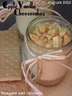 Apple Vanilla Cheesecakes… In a Jar {Crazy Cooking Challenge}