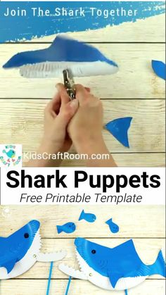 Kids will love these PAPER PLATE SHARK PUPPETS. This interactive shark craft is easily made with the free printable template. A paper plate to inspire hours of imaginative play this summer. #shark #sharkcrafts #sharkactivities #sharkweek #paperplatecrafts #papercrafts #paperplates #kidscrafts #craftsforkids #kidsactivities #kidscraftroom #summercrafts #preschoolcrafts #puppets #puppetcrafts Shark Activities, Craft Activities For Kids, Preschool Crafts, Spanish Activities, Shark Week Crafts, Shark Craft, Dinosaur Crafts, Animal Crafts For Kids, Summer Crafts For Kids