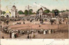 Original Post Card, Cleveland's Luna Park, Euclid Beach Park timeline