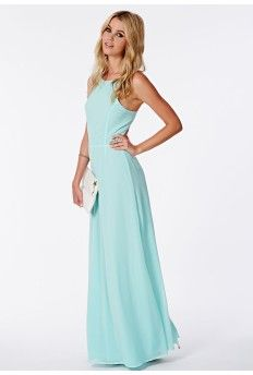 Pascaline Mint Strappy Back Maxi Dress Miss Guided £20.99