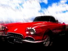 Get yourself or a loved one a Print of this Vette on one or more of the automotive art products sporting Chas' Hot Rod Art! - It will look great on your walls and inspire you to be more! - Go Get Some!!! ~;0) VivaChas!