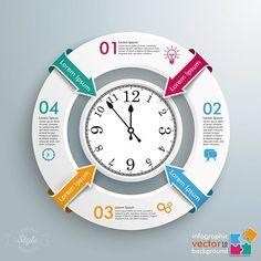 Infographic Clock... #fotolia #shutterstock #adobestock #illustrator #illustration #vector #vektor #infographic #infografik #clock #time #watch #adobeillustrator