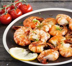 Preparing a shrimp recipe is your ticket to a delicious and quick dinner to satisfy your cravings! For see more of fitness life images visit us on our website ! Shrimp On The Barbie, Stuffed Shells Recipe, Baked Shrimp, How To Cook Shrimp, Shrimp Recipes, Food Photo, Seafood, Dinner Recipes, Healthy Eating