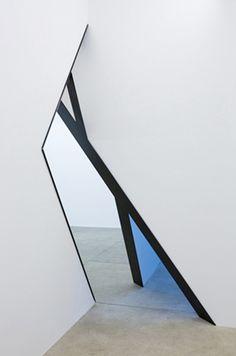 gallery mirror installation - art - reflection
