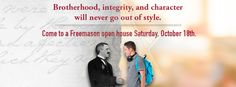 All Massachusetts Lodges will be holding an Open House on Saturday, October 18, 2014. Visit MassFreemasonry.org to learn more and to find a Lodge near you.