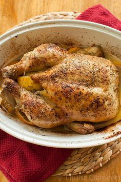 This recipe for lemon thyme roasted chicken is a must-have for any kitchen. | www.livinglou.com