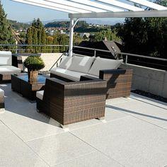 Conceo, Granithell, Terrasse, Sitzecke, Balkon und Dachterrasse #Metten
