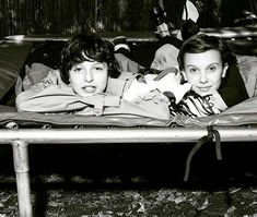 Stranger Things Finn Wolhard and Millie Bobby Brown Dazed magazine photoshoot outtake Photo credit: collierschorrstudio (on Instagram)