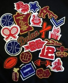 High School Letterman's Jacket Patches