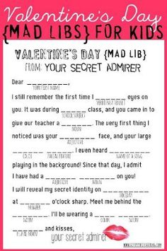 7d8d03894945 15 Free Valentine s Day Printables To Make Your ♥ Swoon
