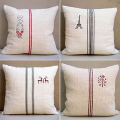 Love the embroidery on the pillows