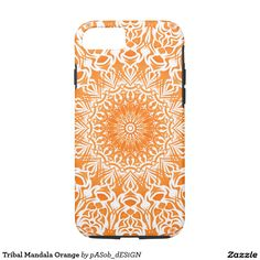 Tribal Mandala Orange