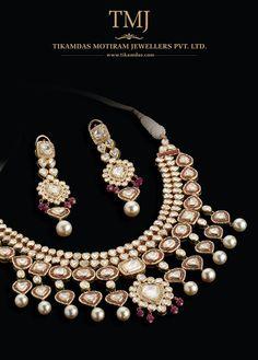 Indian Jewellery and Clothing: Beautiful Kundan bridal jewellery from Tikamdas Motiram Jewellers ( TMJ )