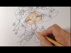 How to color a face / skin with prismacolor pencils - my bestie - part 1 - YouTube