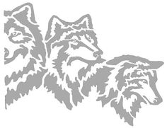 5 wolves bitmap stretched - Animals - User Gallery - Scroll Saw Village