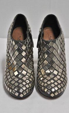 Alaïa Silver Studded Booties