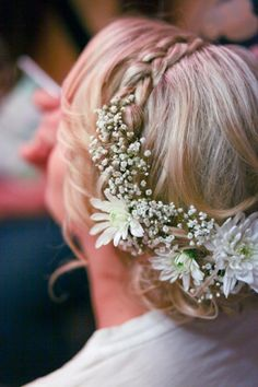 Wedding hair flower halo