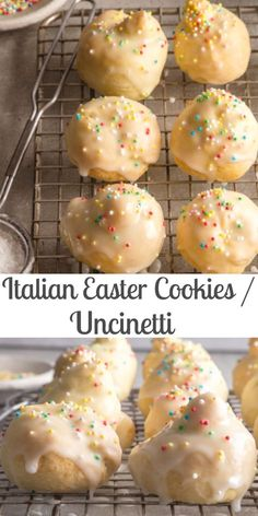 These Traditional Cookies are made with a quick and easy dough. A simple lemon g… These Traditional Cookies are made with a quick and easy dough. A simple lemon glaze tops these Italian Easter Cookies. Perfect with a coffee or tea. Italian Easter Cookies, Easter Cookie Recipes, Italian Easter Bread, Italian Cookie Recipes, Italian Desserts, Cookie Desserts, Easy Desserts, Dessert Recipes, Easter Recipes Italian