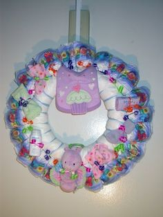 How to make a diaper wreath - by Trenna Sue Hiler
