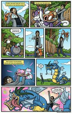 Awesome Pokemon comic. I love the fact that such a wimpy pokemon becomes such a powerful one.