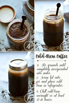 Cafe-Style Overnight Cold-Brew Coffee - - Classic cafe-style cold brew coffee is SO unbelievably easy to make at home you'll never go back to buying it! This overnight cold-brew coffee is truly a keeper recipe for any coffee lover! Instant Iced Coffee Recipe, Iced Mocha Recipe, Vanilla Iced Coffee, Iced Coffee At Home, Iced Coffee Drinks, Coffee Drink Recipes, Coffee Art, Homemade Iced Coffee, Hot Coffee