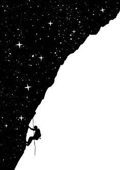 night climbing Art Print by Balazs Solti - X-Small Negative And Positive Space, Negative Space Art, Photo Images, Elements Of Art, Graphic Design Inspiration, Cool Art, Illustration Art, Positivity, Art Prints