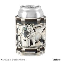 Venetian Lion Can Cooler