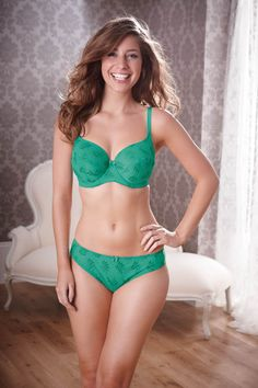 a524446881c Tango Balconette by Panache from Bravissimo in Jade Bra avaialble in sizes  DD cup  Matching deep brief or thong available separately