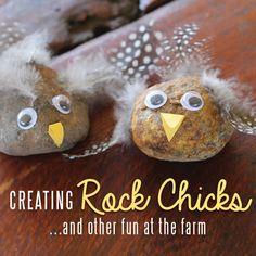 Nature Crafts - adorable Rock Sticks. So cute