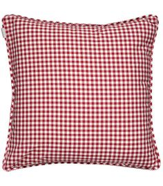 """Linum"" CLEA Cotton Cushion - Red Checked/Gingham"