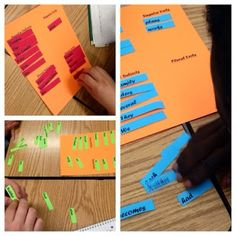Singular and Plural nouns and verbs page for interactive notebook