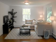 Staging Columbine, Norwalk CT - transitional - Family Room - Bridgeport - Nestings Home Staging by Julia Vigneron Maher