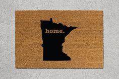 Minnesota Doormat, Minnesota Door Mat, Minnesota Welcome Mat, Minnesota State Doormat, Doormat, Door Mat, State Doormat, Minnesota Mat