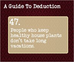 A Guide to Deduction: #47