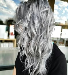 "Linh Phan on Instagram: ""S I L V E R • using the NEW @schwarzkopfusa SILVER/WHITE line! The line comes in 4 shades that are perfect if you are trying to achieve gray/silver blondes! Slate grey, Dove grey, Grey lilac, and Silver. Of course @brazilianbondbuilder #b3 added to my #blondme Lightner and color formula. Styled by @elizabethashleyy Model @baconmanifesto. #BESCENE"""