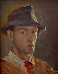 Self-portrait, oil © 2012 Carl Schmitt Foundation