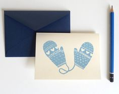Love this blue mittens Christmas card!