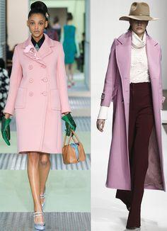 Розовое и сиреневое пальто