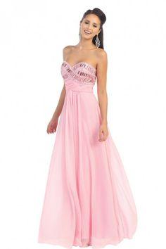 Elegant Sweetheart Neckline Flowy Dress