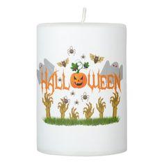 #Halloween Pillar Candle - #Halloween #happyhalloween #festival #party #holiday