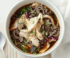 Paneras Soba noodle bowl with chicken- its Delicious!!