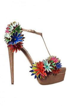 Brian Atwood Peep-toe con appliques